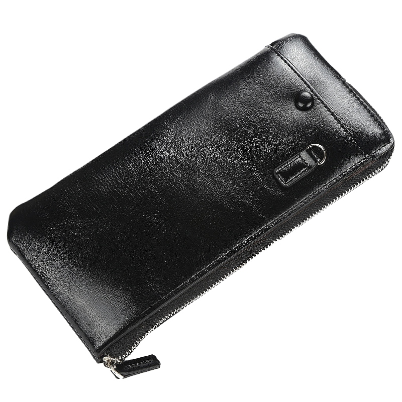 Baellerry Wallets with Cellphone Pocket Long Coin Purses for Men Women Clutch Business Male Wallet Vintage Large Thin Wallet ID