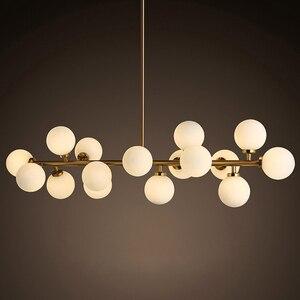 Image 1 - Mordern Led תליון אורות מטבח אוכל חדר נורדי תעשייתי תליון מנורת בר קפה Luminaire תליית גופי תאורה