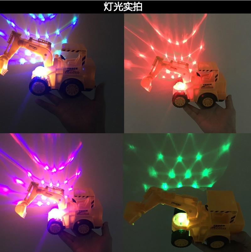 Children Electric Emulate Toy Electric Universal Excavator Music Flash Excavator Rug Supply Of Goods Hot Selling