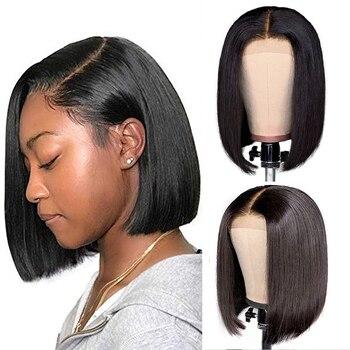 Straight Short Bob Wigs Human Hair Wigs Lace Frontal Wig Straight Lace Front Wigs Liddy Malaysian Lace Front Human Hair Wigs