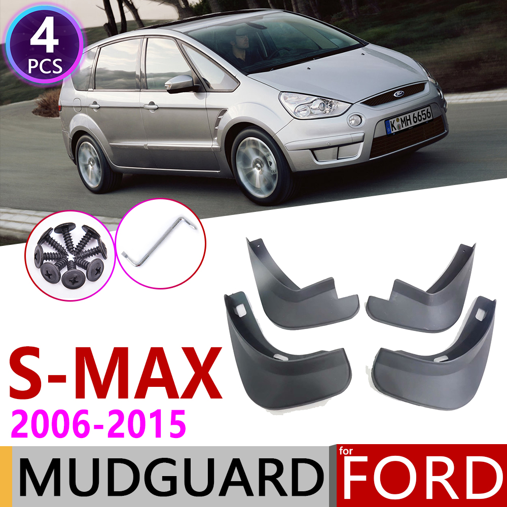 For Ford S-MAX S MAX SMAX 2006~2015 Fender Mudflap Mud Guard Splash Flap Mudguard Accessories 2007 2008 2009 2010 2011 2012 2013