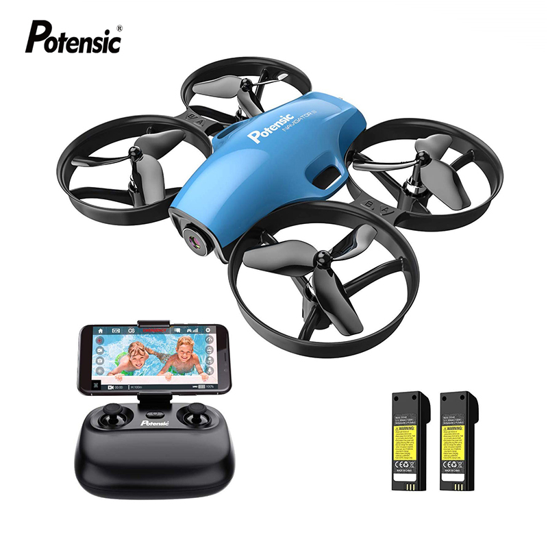 Potensic A30W Mini Drone RC FPV Aircraft HD Camera Wifi FPV Drone Selfie RC Quadcopter Gift for Kids Boys Girls