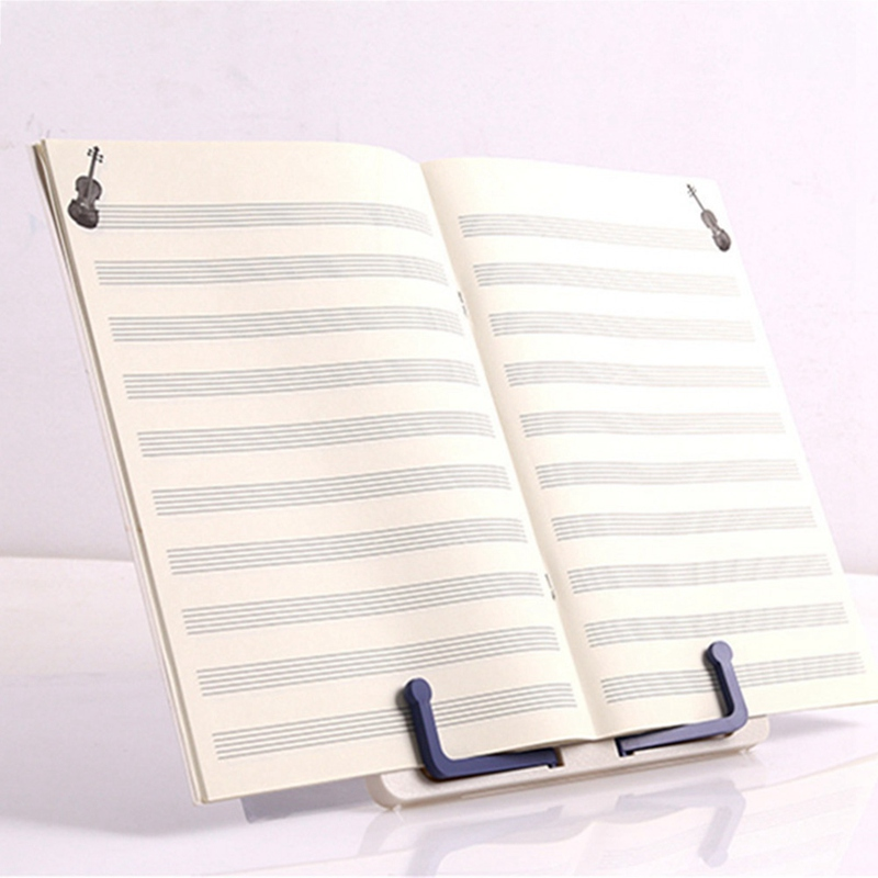 Adjustable Holder Antirust Reading Frame Fold Bookends Desktop Office Book Stand Music Sheets Library Plastic Lightweight