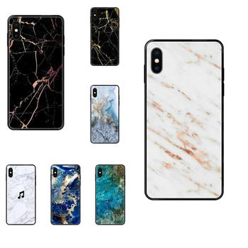 TPU Phone Case Skin Cover For Galaxy S5 S6 S7 S8 S9 S10 S10e S20 edge Lite Plus Ultra Stone Granite Marble Texture Pattern image