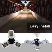E27 LED Lamp 220V Deformable Lamp Faretto LED Esterno Waterproof Light 240V 60W 80W LED Garage Lamp For Home Lighting LED Bulb