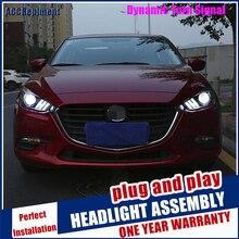 Faros para Mazda 3 Axela 2017 2019 LED/de cruce de xenón Luz De Carretera luz LED de conducción diurna secuencial de señal 1 par