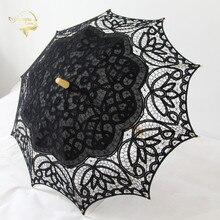 Fashion Lace Sun Umbrella 10 Parasol Bride White Ivory Wedding Ombrelle Dentelle Parapluie Mariage New Arrival