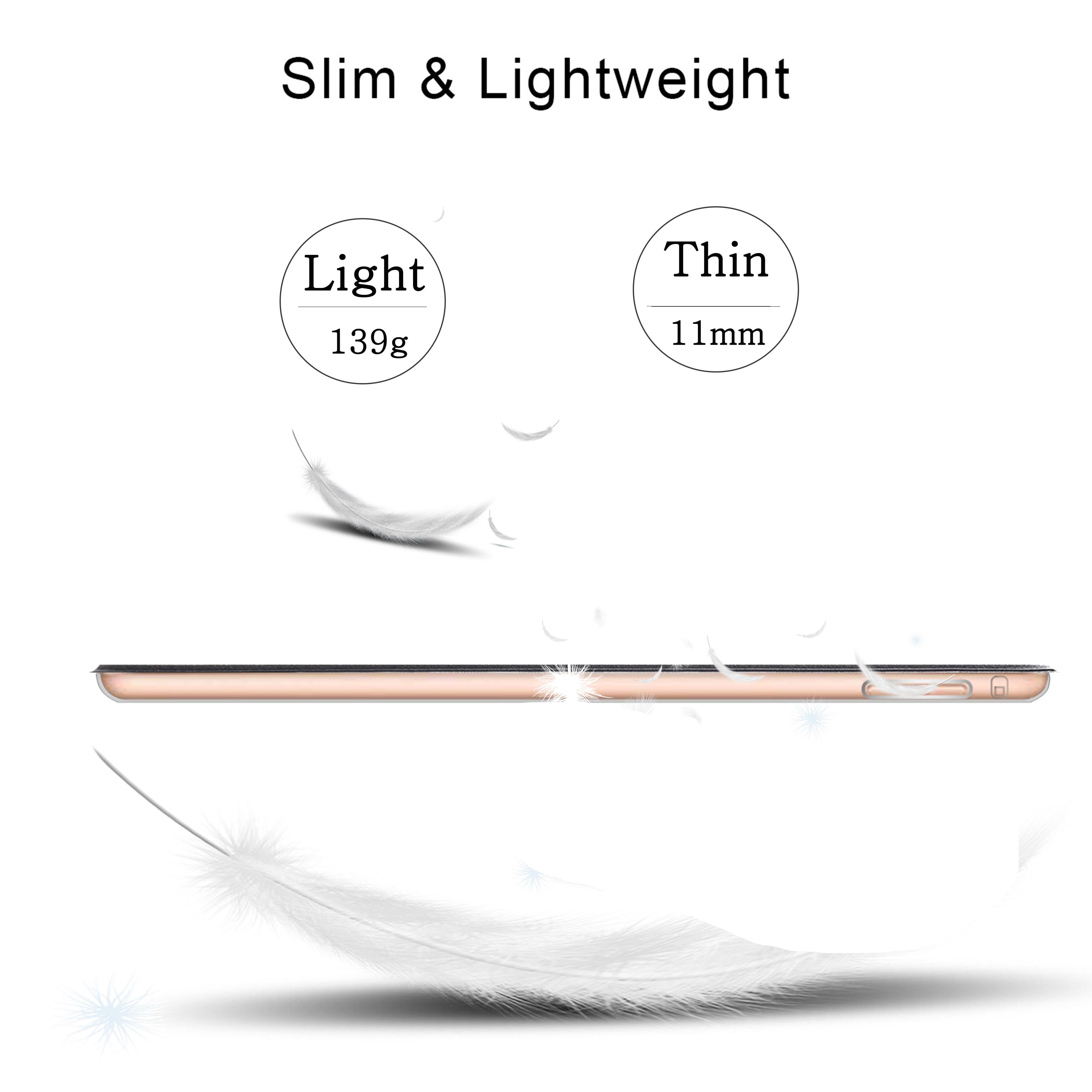 Capa de celular para ipad, para modelos ipad 2 3 4, a1395 a1430 a1458 capa para acordar para ipad 4 2 3 5