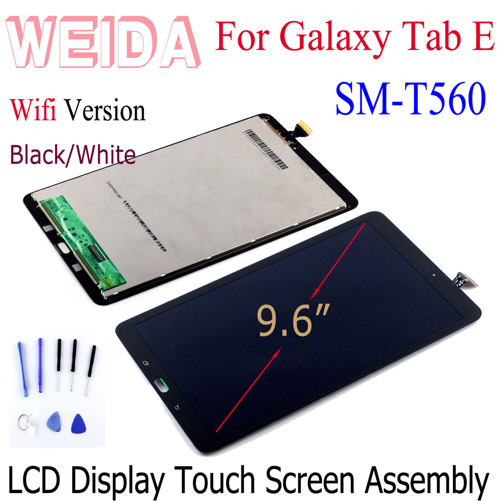 """New 9.6"""" For Samsung Galaxy Tab E T560 SM T560 T561 SM T561 LCD Display Touch Screen Digitizer Panel Tablet Assembly Parts