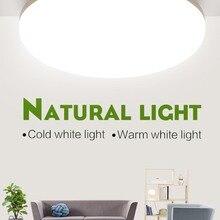 LED Light Home Modern Panel Light Ceiling Lamp Natural Light Warm White Cold White Round