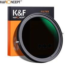 K & f conceito ND2-ND32 nd cpl filtro de polarização circular ajustável da lente 2 em 1 variável 49mm 52mm 58mm 62mm 67mm 77mm