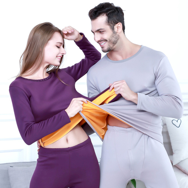 Hot Sale 2019 New Thermal Underwear For Men Long Johns Sets Winter Women Thermo Shirt And Pants Set Warm Thick Fleece Clothing