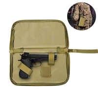 Sac de pistolet tactique 600D pochette de transport pistolet étui de pistolet militaire portable porte-revues Durable étui de couverture de Paintball de chasse