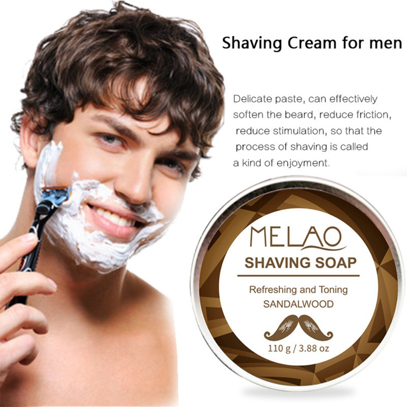 110g Professional Shaving Cream Anti-Allergy Shaving Soap Foaming Moisturizing Razor Barbering Men Shaving Soap Cream