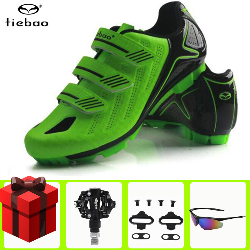 Tiebao Cycling Shoes men sapatilha ciclismo mtb SPD pedals set sneakers Men Mountain Bike Outdoor Professional Bicycle Shoes