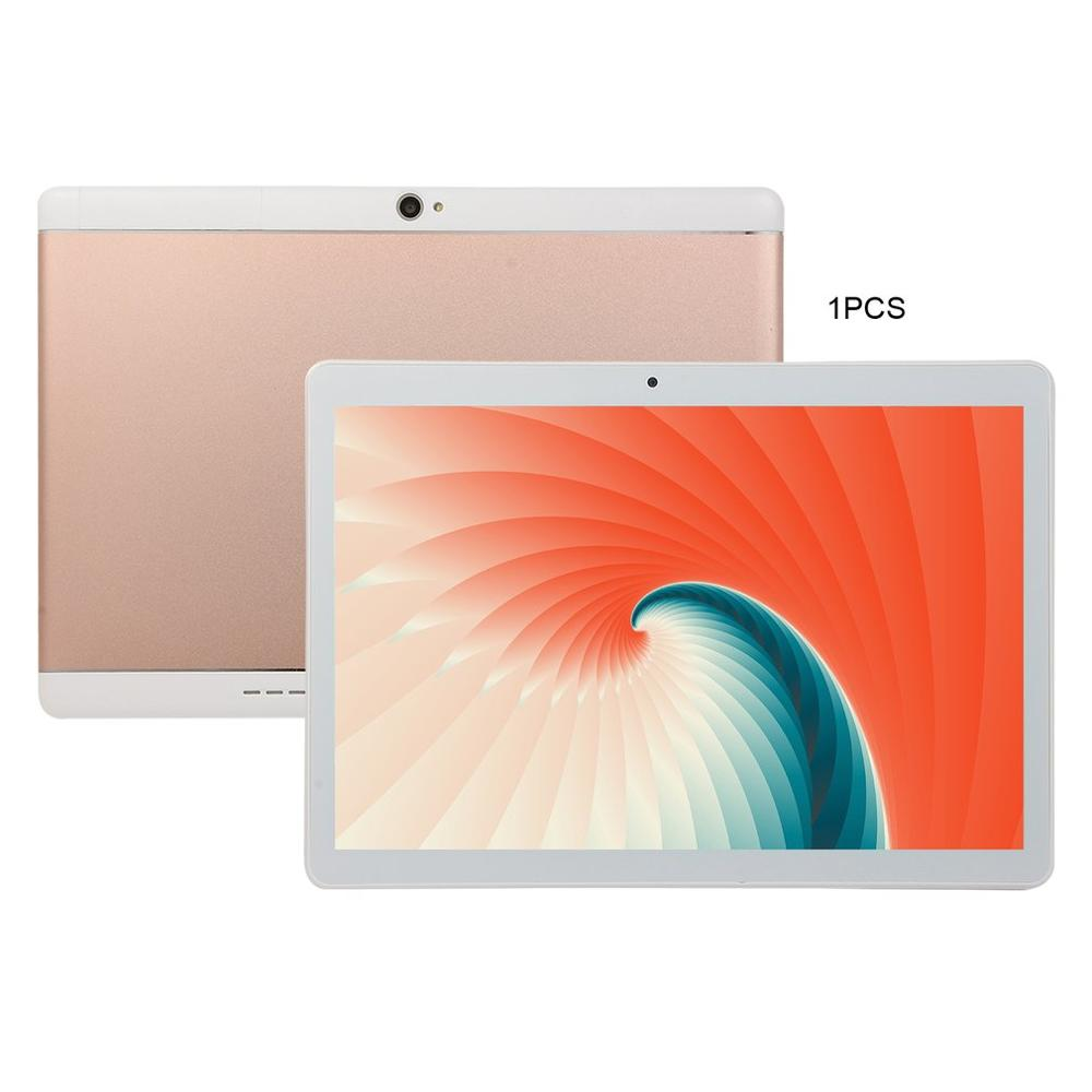 KT107 Round Hole Tablet 10.1 Inch HD Large Screen Android 8.10 Version Fashion Portable Tablet 8G+64G Pink Tablet