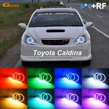 RF a distanza Bluetooth APP Multi Color Ultra luminosa RGB LED Fari Alogeni Di Profondità kit per Toyota Caldina T24 pre facelift 2002 2003 2004