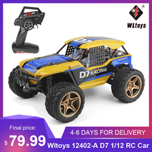 New Wltoys XK 12402-A D7 1/12 RC Car 550 Motor 4WD 45Km/H Desert Buggy Car Rock Racing Crawler Truck Off Road RC Car Toys Kid