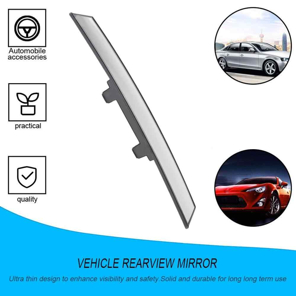 Universal 300mm Car Rear Mirror Wide-angle Rearview Mirror Auto Wide Convex Curve Interior Clip No Visual Blind Spot