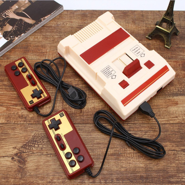 Retro Classic Nostalgic 8 Bit Video Games Console Player + Dual Gamepads+500 IN 1 Game Card AV Output For FC NES TV Game Console 3