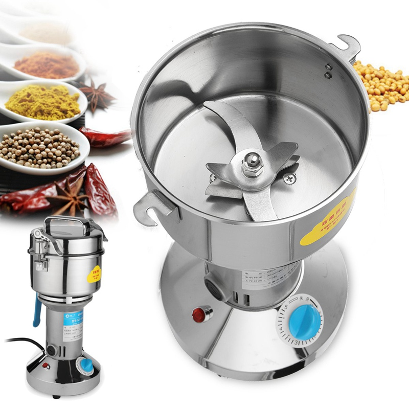 Electric Herb Grain Mill Grinder Household Cereal Flour Powder Grinding Machine