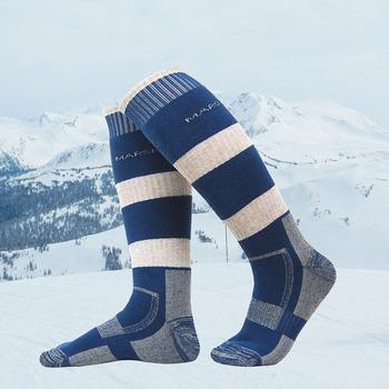 Profesjonalne zimowe narciarstwo sportowe skarpetki mężczyźni kobiety termiczne narty śnieg ciepłe długie skarpety na zewnątrz bawełna Snowboard pończochy tanie i dobre opinie Aolikes Skiing