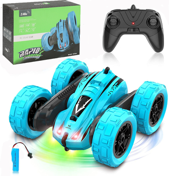 4WD RC Car 2.4G Radio Remote Control Car 1:24 Double Side RC Stunt Cars 360° Reversal Vehicle Model Toys For Adult Children Boy 1