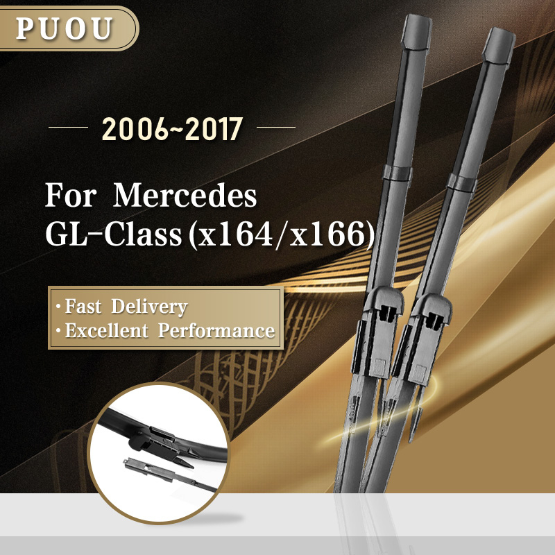 PUOU Wiper Blades for Mercedes Benz GL Class x164 x166 GL 350 400 450 500 550 63 AMG BlueEFFICIENCY image