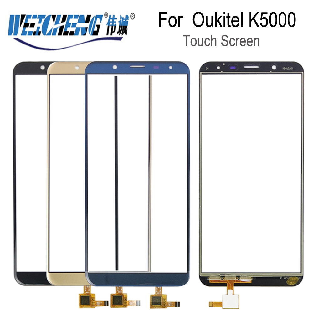 WEICHENG For <font><b>Oukitel</b></font> <font><b>K5000</b></font> <font><b>Touch</b></font> <font><b>Screen</b></font> Glass 100% Guarantee New Glass Panel <font><b>Touch</b></font> <font><b>Screen</b></font> For <font><b>K5000</b></font> <font><b>touch</b></font>+ tools+Adhesive image