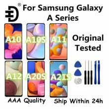 Original testado para samsung galaxy a11 a12 a21 a21s display lcd de toque digitador da tela para samsung a10 a10s a20s a10e tela lcd