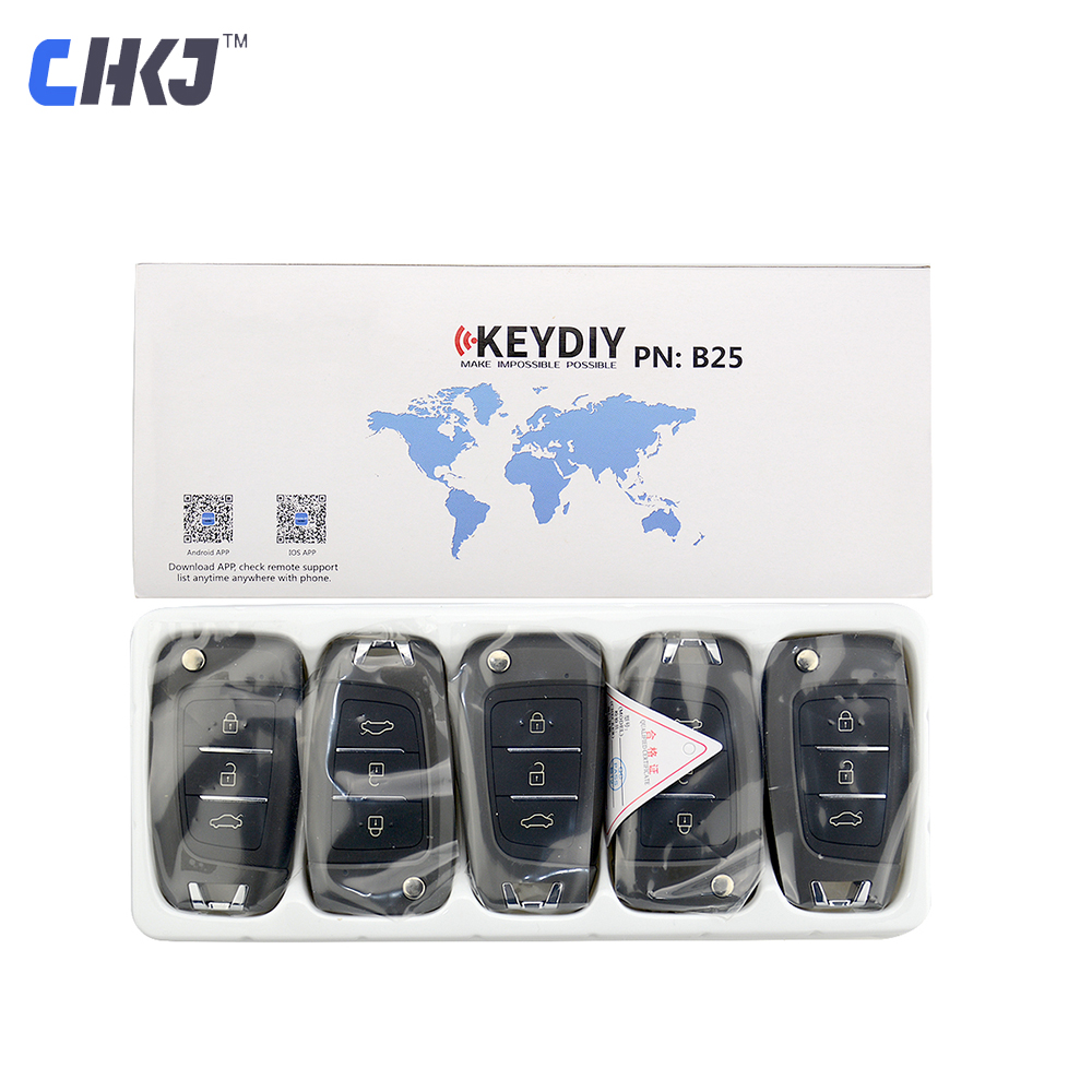 CHKJ 3 Button Universal Remote Control Replacement Smart Car Key Keydiy For KD900 KD900   KD200 URG200 KD-X2 mini-kd B25 series
