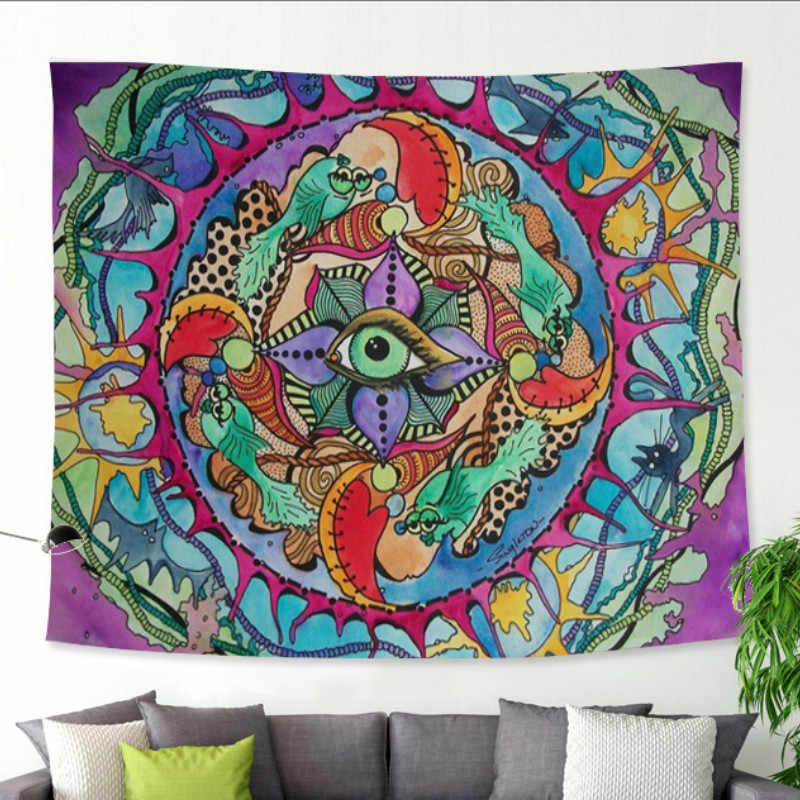tassel wall decor.htm new abstract face sun watercolor hanging wall tapestries mandala  watercolor hanging wall tapestries