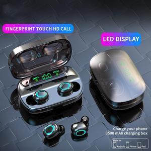 Image 3 - Беспроводные наушники AERBOS Tws S11, Bluetooth 5,0, сенсорное управление, наушники вкладыши с микрофоном, мини наушники с внешним аккумулятором 3500 мАч