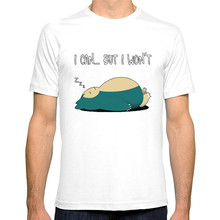 Pokemon T Shirt I Can But I Won't Casual O-neck Tees Print Tshirt Harajuku Cotton Tops Modis T-Shirts Men T Shirts Fashion 2019 i see trees of green red roses too i see them bloo men t shirts wonderful world casual 100% cotton tees t shirt 4x 5x clothes