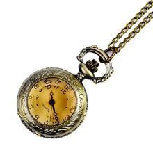 Винтажные кварцевые часы с гравировкой, арабским номером, с цепочкой, подарок на день рождения, часы, ожерелье, подвеска, часы, цепь для мужчин и женщин