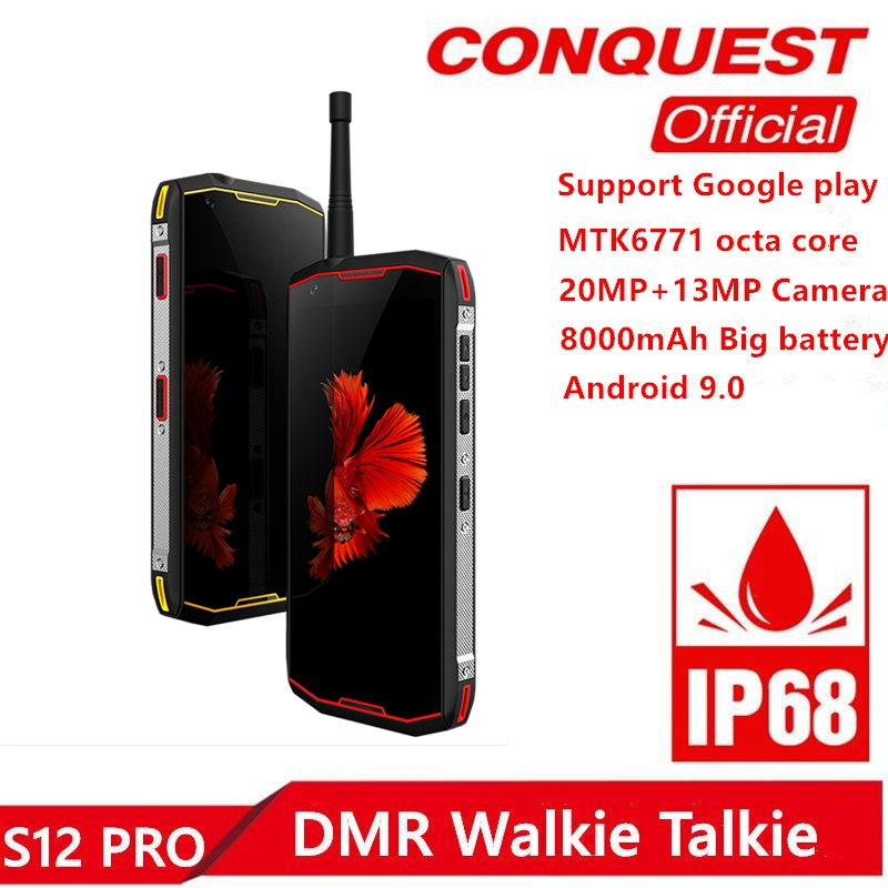Conquest S12Pro IP68 Waterproof Rugged Smartphone 6GB+128GB 5.99