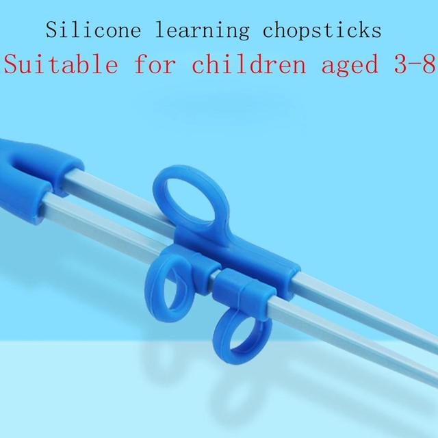 1 Pair Chopsticks for Sushi Baby Kids Cartoon Food Sticks Easy Use Fun Learning Training Helper Dishes Dinner Game Kitchen tools 4