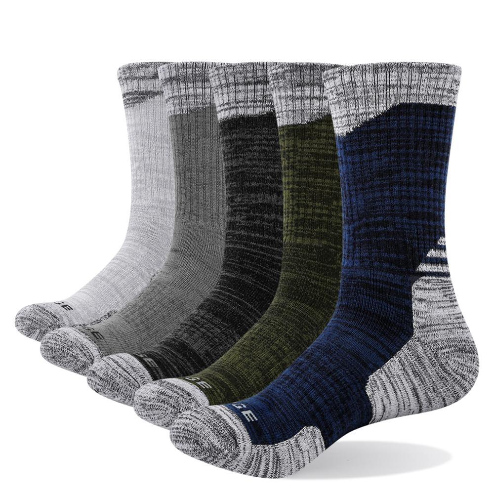 YUEDGE 3/5Pairs/lot Spring Autumn Men's Long Tube Cotton Socks Men Sweat-absorbent Casual Deodorant Sports Socks Meias Wholesale