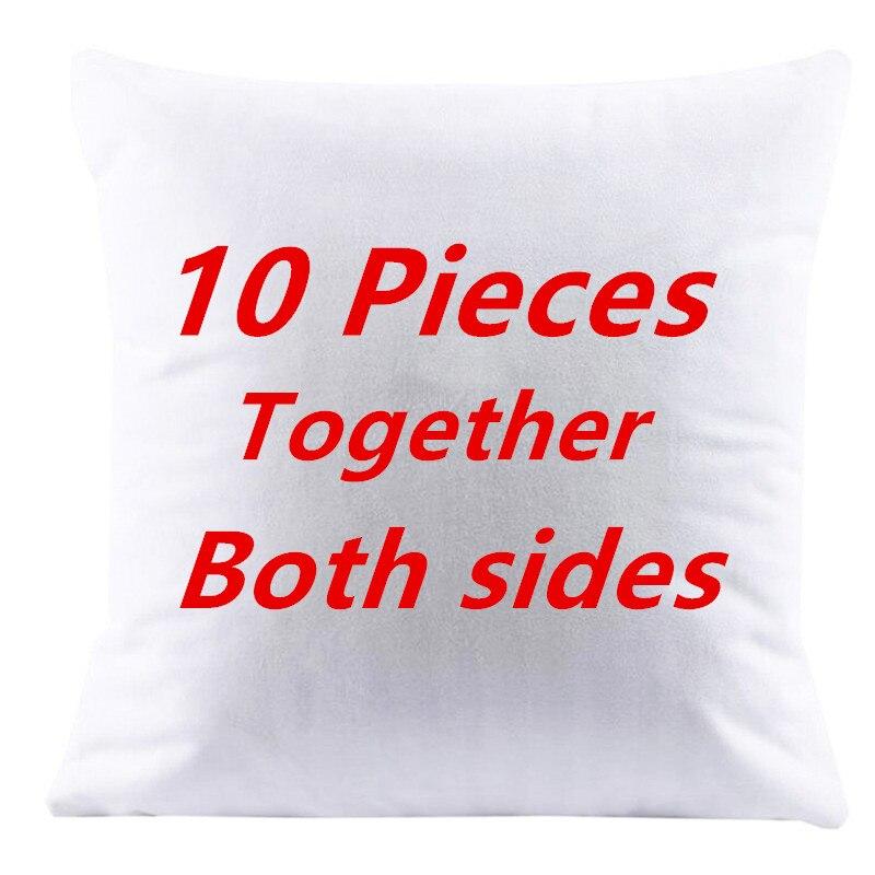10 قطعة وسادة يغطي معا كلا الجانبين تصميم الصورة هنا طباعة الحيوانات الأليفة الزفاف صور الحياة تخصيص هدية المنزل المخدة-في غطاء وسادة من المنزل والحديقة على  مجموعة 1
