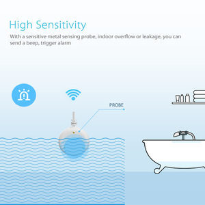 Image 2 - 와이파이 누수 경보 감지기 물 센서 홈 보안 스마트 홈 알렉사 에코 구글 홈
