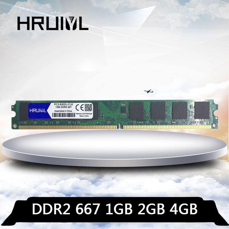 Hruiyl PC2 5300U 667 mhz 2g memória ram ddr2 667 mhz 1 gb 2 gb 4 gb módulo computador desktop memoria ddr 2 1g 2g 4g pc2 5300|RAM|   - AliExpress