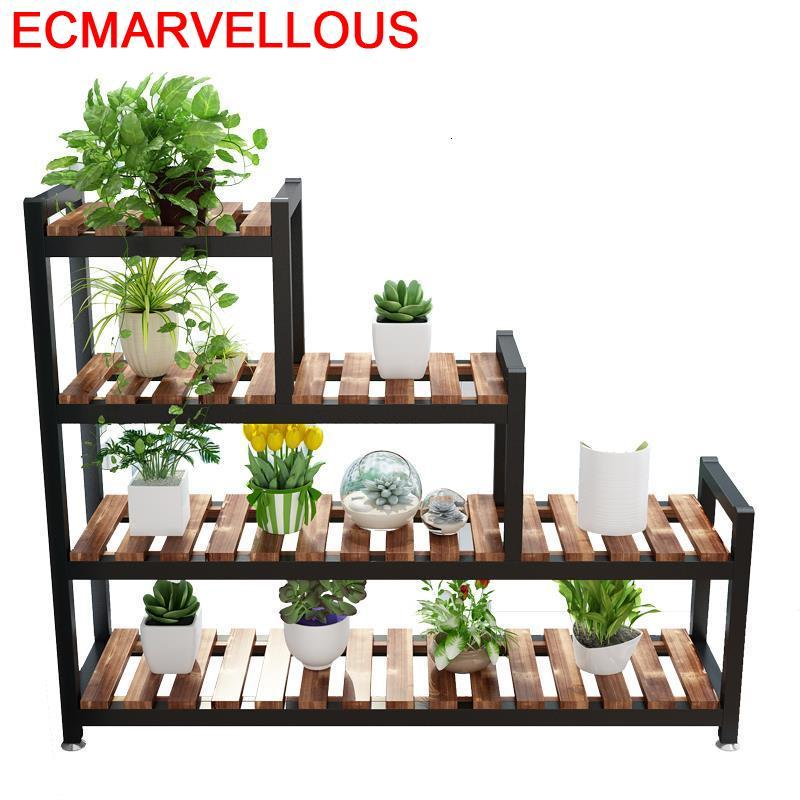 Porta Piante Balkon Estanteria Plantas Escalera Decorativa Madera Stojak Na Kwiaty Outdoor Rack Flower Shelf Plant Stand