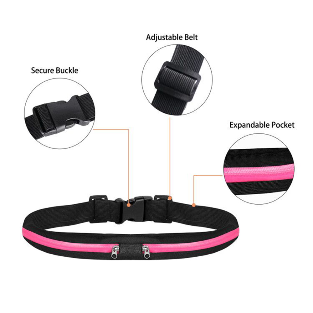 Buylor Running Waist Belt Bag Women Men Sports Bumbag Waterproof  Portable Waist Pack Outdoor Phone Pouch  for Cycling Hiking