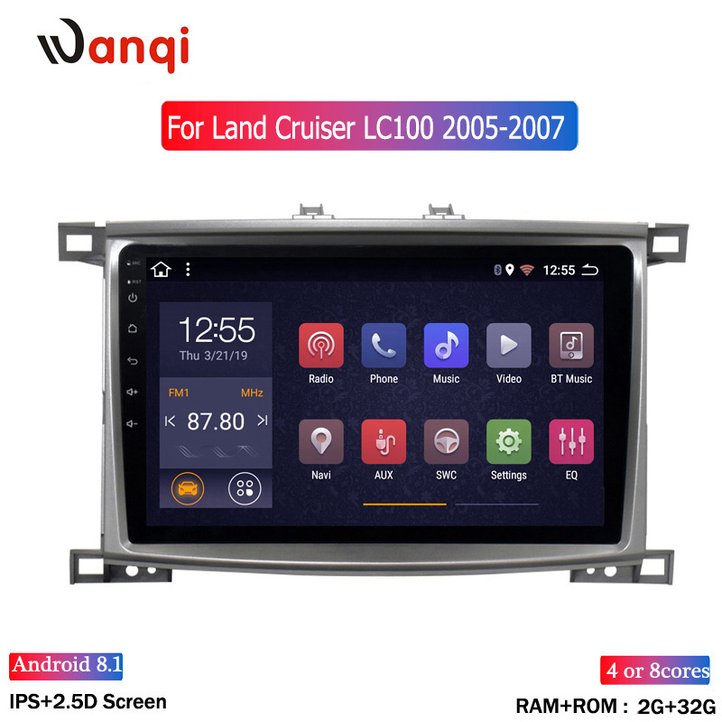 2G RAM 32G ROM Car Radio player for Toyota Land cruiser 100 GX LC 100 Stereo Radio Navigation Head Unit|Car Multimedia Player| |  - title=