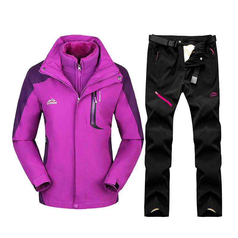 Ski Suit For Women Waterproof Windproof Skiing And Snowboard Jackets Set Outdoor Women's Winter Suit Ski Jacket + Pants Brand