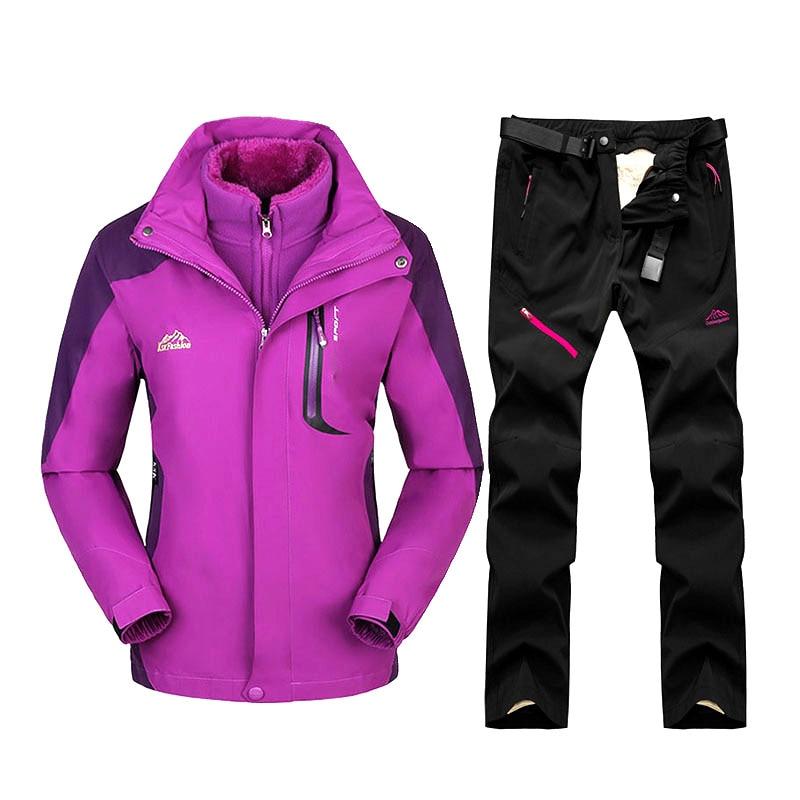 Ski Suit For Women Waterproof Windproof Skiing And Snowboard Jackets Set Outdoor Women's Winter Suit Ski Jacket + Pants Brand
