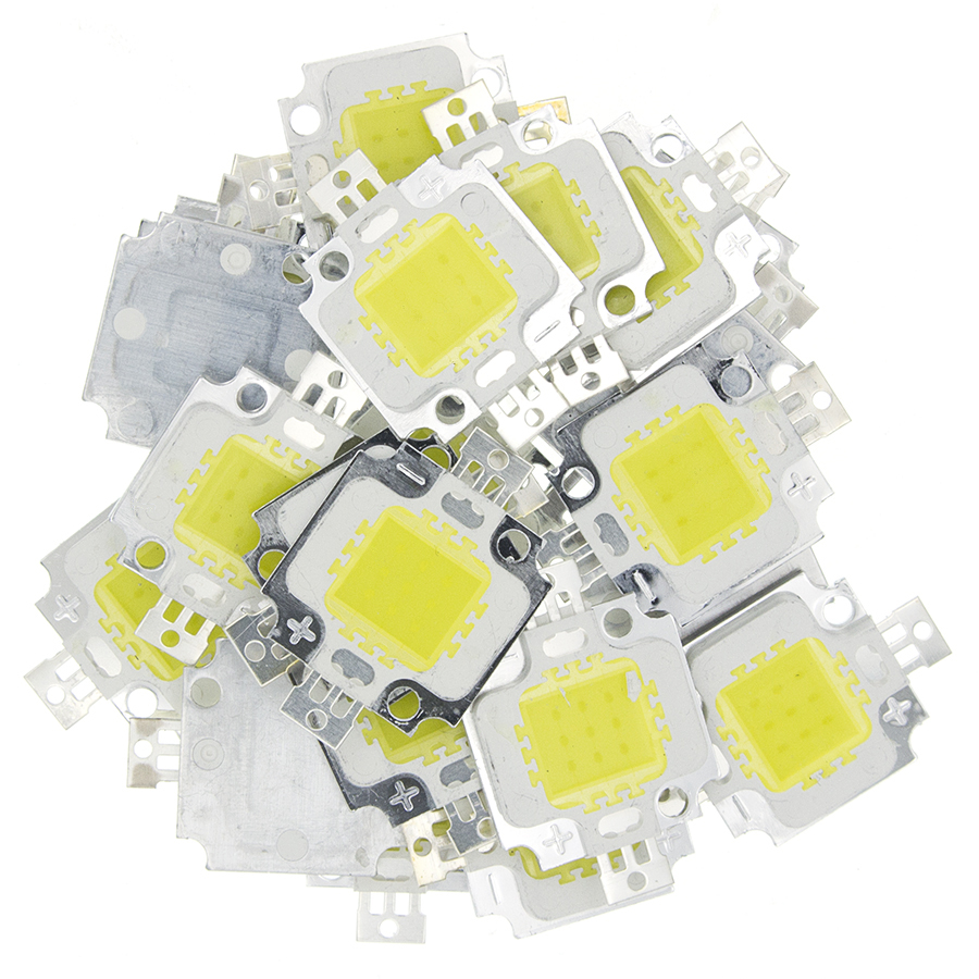 10PCS/10W LED White Cold White Led Chip For Integrated Spotlight 12v DIY Projector Outdoor Flood Light Super Bright