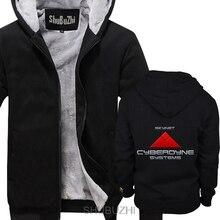 Skynet cyberdyne sistemas grosso hoodie manga comprida hoodie engraçado jaqueta superior shubuzhi inverno estilo grosso jaqueta sbz4209
