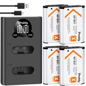 Image 1 - 1800mah ل sony NP BX1 NP BX1 بطارية + شاحن أجهزة سوني DSC RX100 X3000 IV HX300 WX300 HDR AS15 X3000R MV1 AS30V HDR AS300