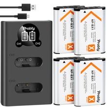 Batería + cargador para sony NP BX1 NP BX1 de 1800mah, para Sony DSC RX100 X3000 IV HX300 WX300 HDR AS15 X3000R MV1 AS30V HDR AS300